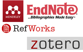 Logos for citation management tools