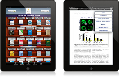 Browse journals on your tablet or iPhone