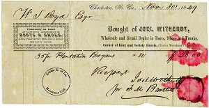 Bill of sale for slave