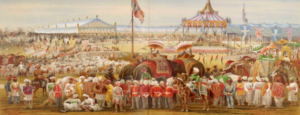 painting of British troops in India