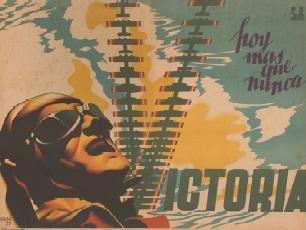 Image citation: Josep Renau. Hoy más que nunca / Victoria, 1938. [Victory: Now more than ever.] Veterans of the Abraham Lincoln Brigade, Bay Area Post Records. The Bancroft Library, BANC MSS 71/105z, folder 40