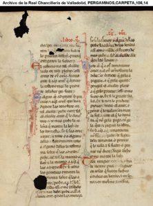 Archivo de la Real Chancillería de Valladolid, PERGAMINOS,CARPETA,106,14