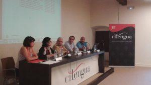 izq. a der.: Elisa Borsari, Gemma Avenoza, Carlos Alvar, Ángel Gómez Moreno, Óscar Perea