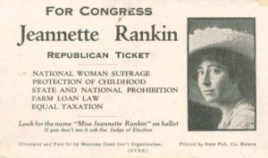 Jeanette Rankin, the first woman elected to US Congress, was interviewed by OHC in 1972