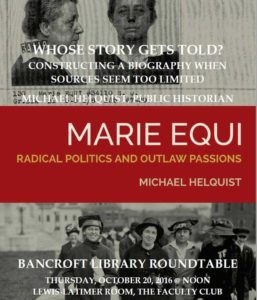 Bancroft Roundtable featuring Michael Helquist, Oct. 20, 2016