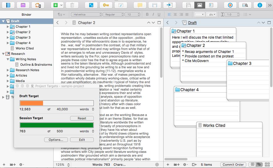 Scrivener software