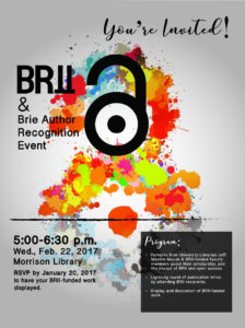 BRII & Brie Author Recognition Event Invitation
