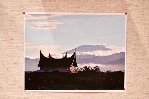 Mount Merapi and Minangkabau long house by Edy Utama