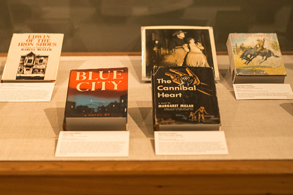 Books in the new Bancroft Library exhibit