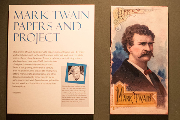 Mark Twain materials in the new Bancroft Library exhibit