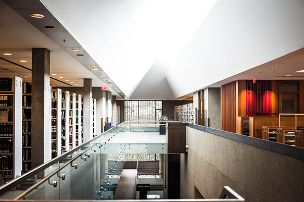 The top floor of the C.V. Starr East Asian Library