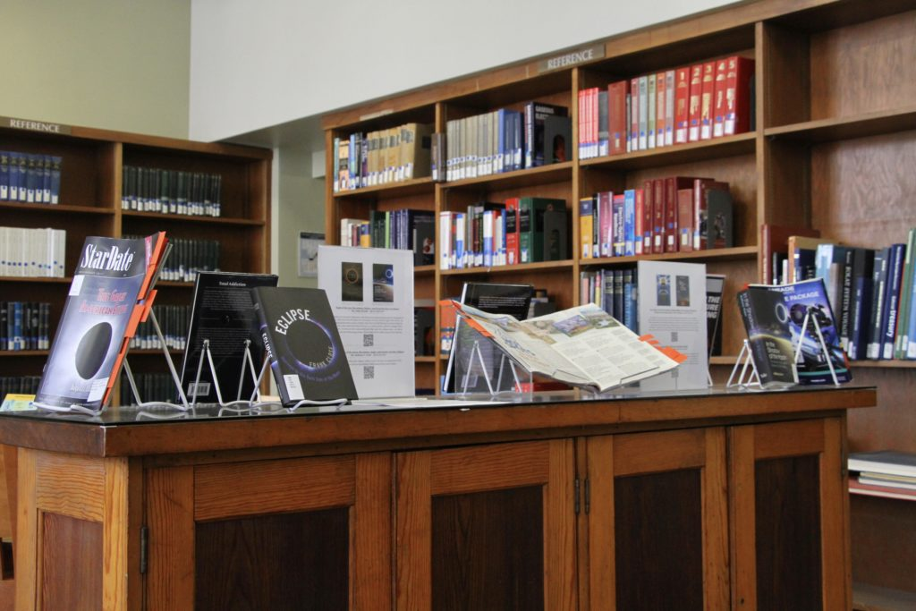 Eclipse books on display