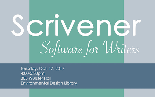 Scrivener: Software for Writers