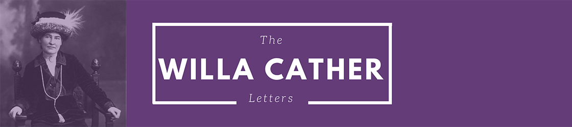 Willa Cather's Letters