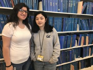 OHC student employees Hailie O'Bryan and Pilar Montenegro