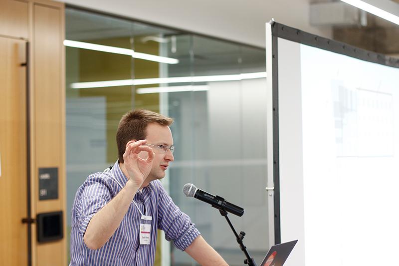 Speaker gestures.