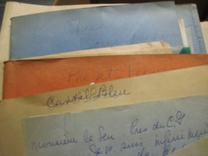 Cheese files in the manuscript collection