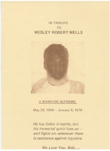 A Tribute to Robert Wesley Wells, January 15, 1976