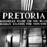 Train station sign: Pretoria Suburban Station for Non-whites