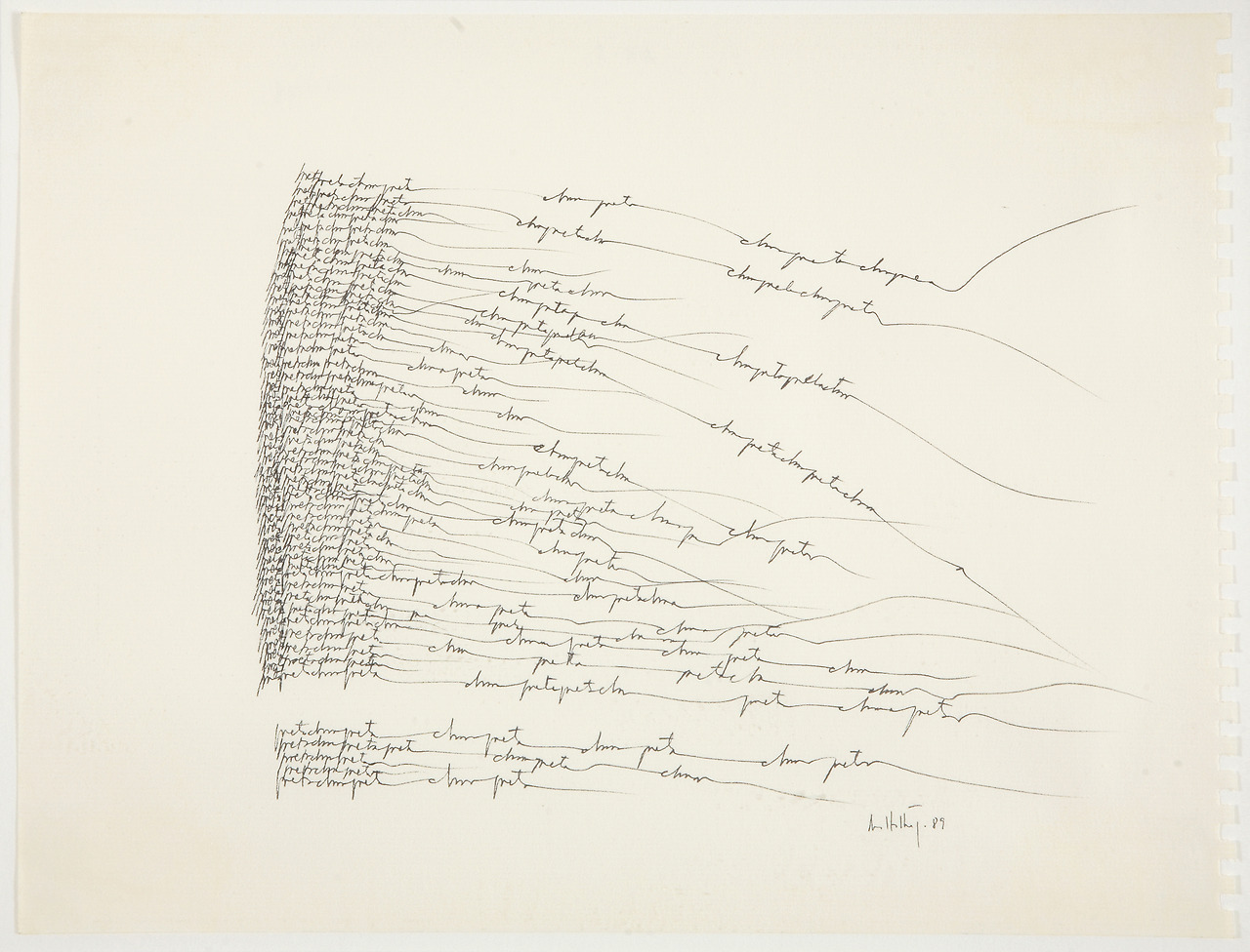 Poeta chama poeta I, 1989