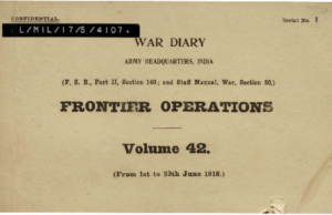 First page of war diary