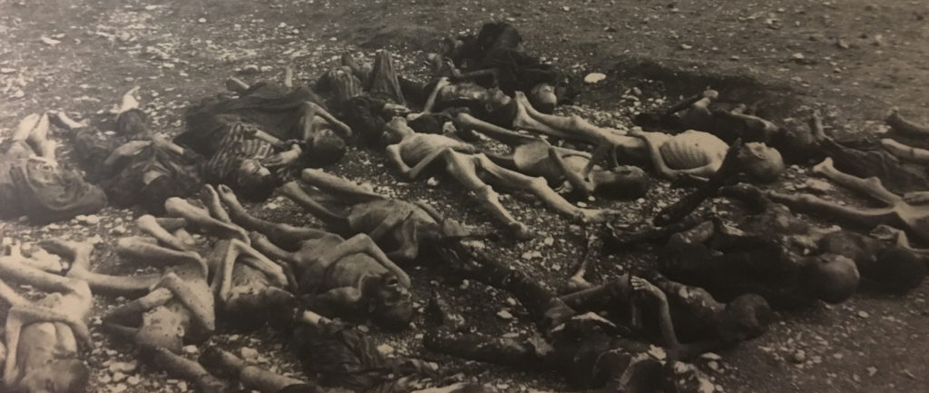 corpses, concentration camp victims, Landsberg, Germany 1945
