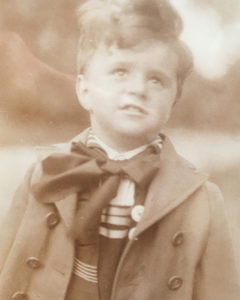 Leitmann boy dressed for play, Vienna, early 1930s