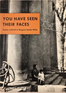 "Book cover of Margaret Bourke-White's ""You Have Seen Their Faces"""