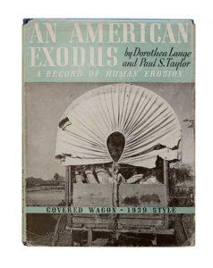 Book cover of Dorothea Lange & Paul S. Taylor, An American Exodus: A Record of Human Erosion (1938)