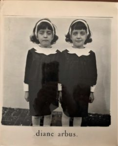 Book cover of Diane Arbus (1972), picgturing twin girls in matching dresses