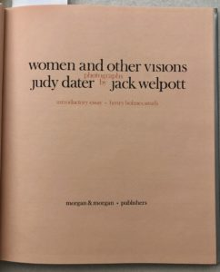 Title page of Judy Dater and Jack Welpott, Women and Other Visions (1975)