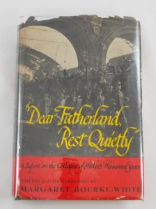 "Book cover of ""Dear Fatherland"", 1946"