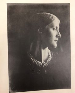 A profile photograph of Mrs. Herbert Duckworth (Julia Jackson) from Julia Margaret Cameron's, Victorian Photographs of Famous Men and Fair Women (a book published in 1926)