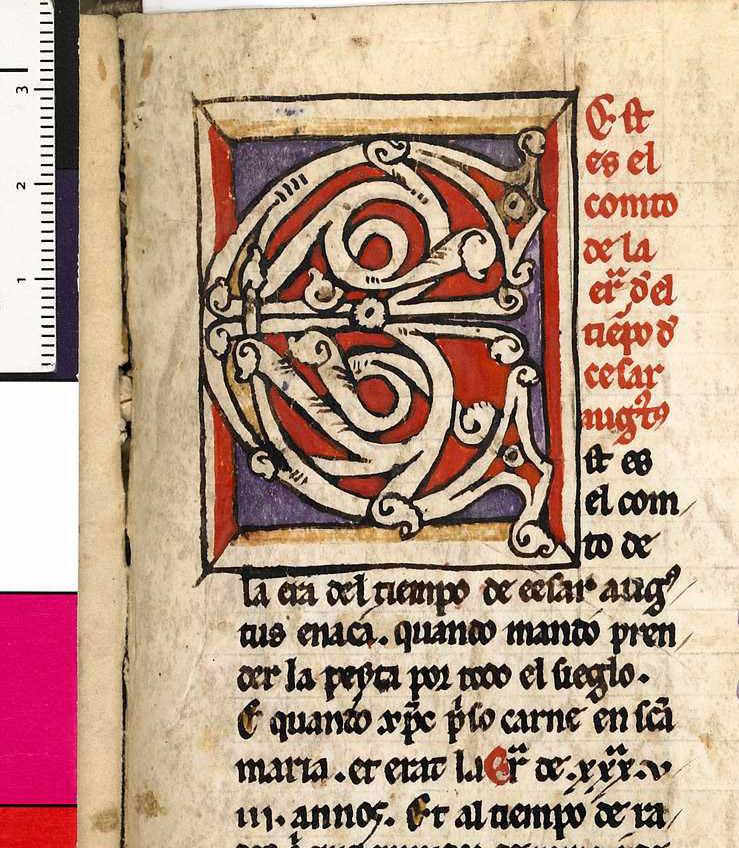 Copenhague: Den Arnamagnæanske håndskriftsamling MS AM 805 4to, f. 102ra rúbrica
