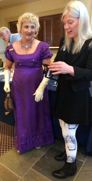 Two women at Jane Austen conference