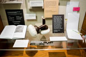 Image of exhibit case.