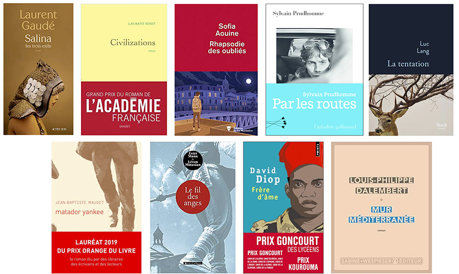 French Literary Prize Winners 2019