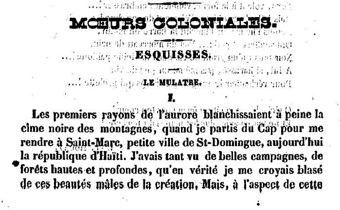 Le Mulâtre by Victor Séjour
