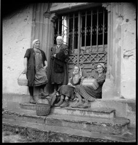 Vineyard workers. Ammerschwihr, France circa 1945 BANC PIC 1982.111 series 6, NNEG box 97, item 40