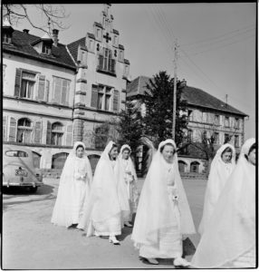 First Communion. Ammerschwihr, France circa 1945 BANC PIC 1982.111 series 6, NNEG box 94, item 129