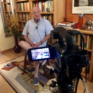 H. Anthony Ruckel, environmental lawyer and former president of the Sierra Club, at his home in Denver, Colorado during his oral history interview in September 2019.