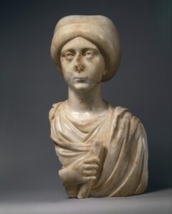 Marble Portrait Bust of a Woman with a Scroll, made in Constantinople, late 4th–early 5th century (The Metropolitan Museum of Art