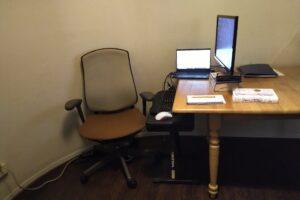 Monica's desk