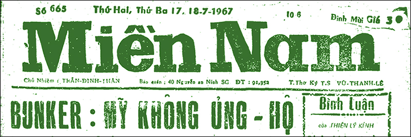 Miền Nam 1967 [newspaper]