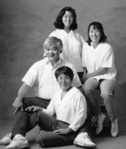 Janet Daijogo with her family