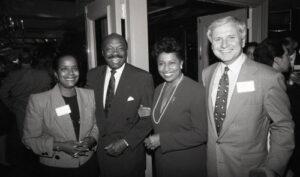 Mike Roos, Carol Moseley Braun, and Willie Brown