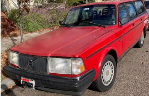 Red Volvo wagon
