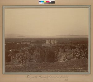 View from the university ground [sic] at Berkeley, 1874