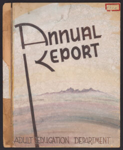 Annual Report cover with image of Arizona landscape.