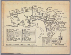 Map of Minidoka War Relocation Center.